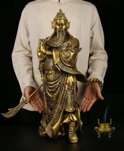 Tượng quan công Vân Trường đẹp bằng đồng thau phong thủy Hồng Thắng