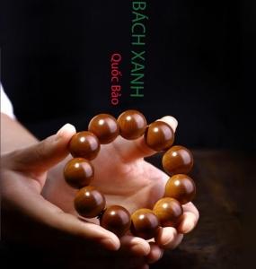 Vòng đeo tay nam nữ gỗ Bách Xanh phong thủy đắc tài lộc chính hãng Hồng Thắng